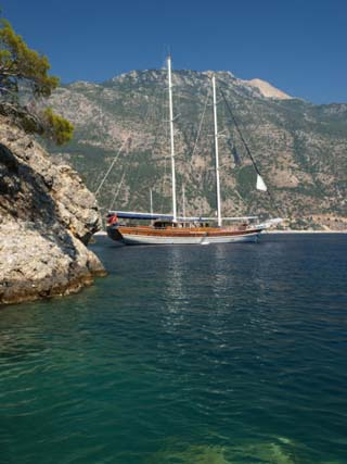 Gulet Cruise, Olu Deniz, Near Fethiye, Aegean, Anatolia, Turkey, Asia Minor, Eurasia