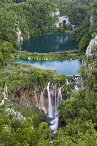 Plitvice Lakes in the National Park Plitvicka Jezera, Croatia