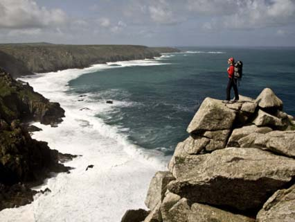 Looking West Towards Cape Cornwall and Lands End from Bosigran Cliff, West Penwith, Cornwall
