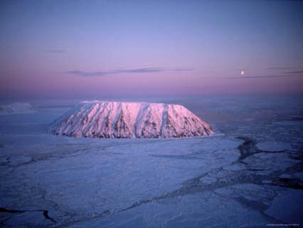Eighteen Thousand Years Ago the Diomede Islands were Volcanic Mountains
