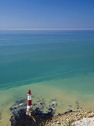 Beachy Head Lighthouse, East Sussex, English Channel, England, United Kingdom, Europe