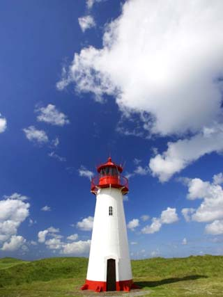 Western lighthouse of List, Ellenbogen, Sylt, North Sea, North Frisian Island, Germany