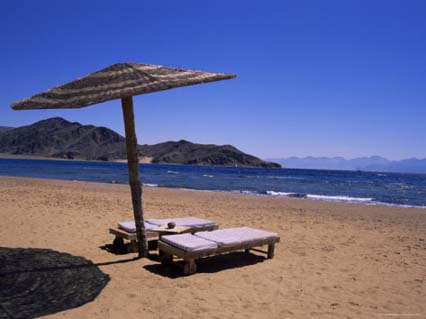 The Beach at Taba Heights, Gulf of Aqaba, Red Sea, Sinai, Egypt, North Africa, Africa