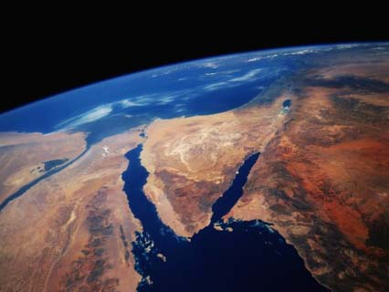 Sinai Peninsula from Space