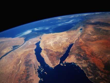 Sinai Peninsula from Space