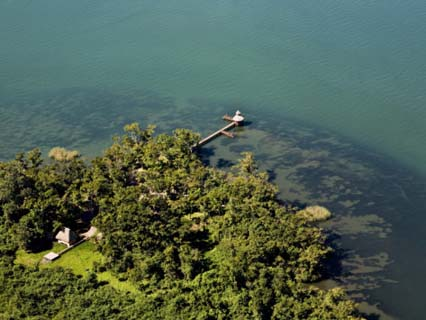 Aerial of Lake Izabal
