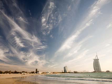 The Burj Al Arab Hotel in Dubai, Uae