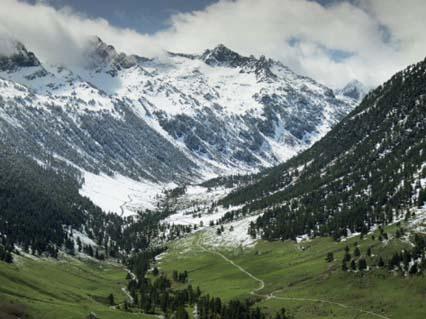 Val d'Aran in the Pyrenees Near Viella, Catalonia, Spain
