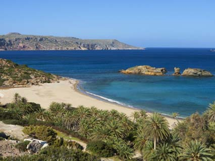 Vai Beach, Lasithi Region, Crete, Greek Islands, Greece, Europe