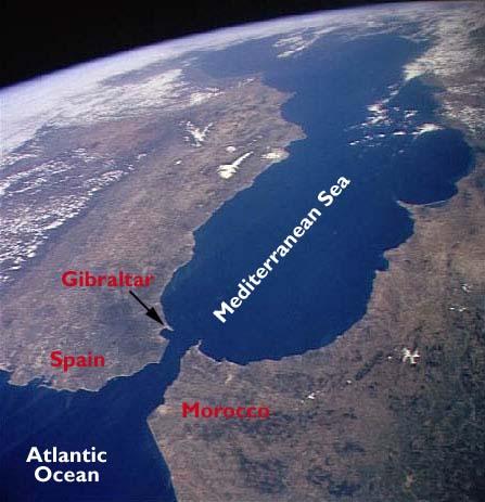 Photo Of Strait Of Gibraltar Strait Of Gibraltar Map Location