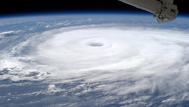 Hurricane Edouard from the ISS