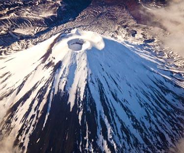 Mount Ngauruhoe, an Active Volcano in Spring, Tongariro National Park, New Zealand