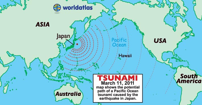 Japan Tsunami Map March 2011 Information Page