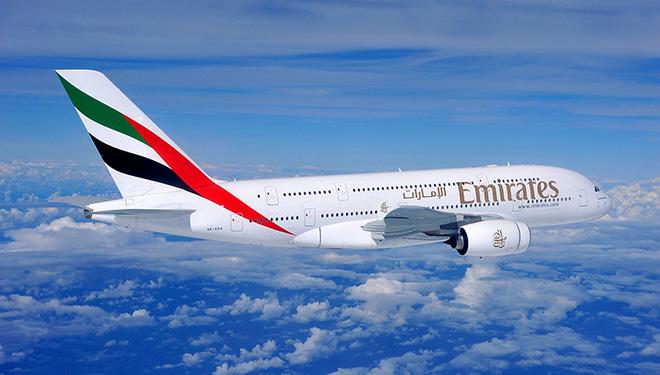 Emirates Plane in Flight