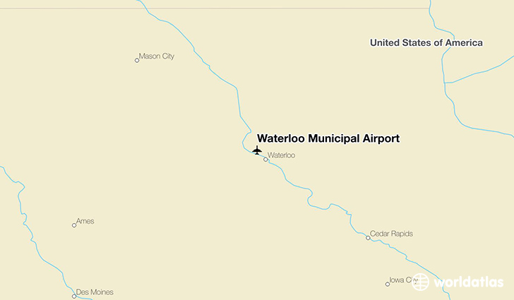 Waterloo Municipal Airport location on a map