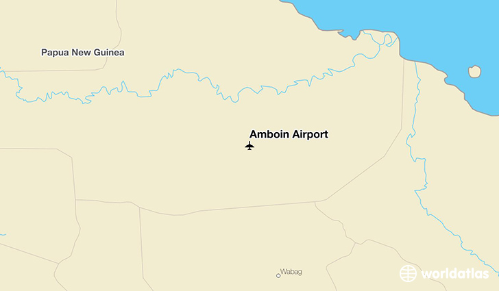 Amboin Airport location on a map