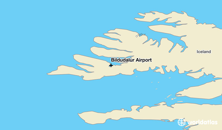 Bildudalur Airport location on a map