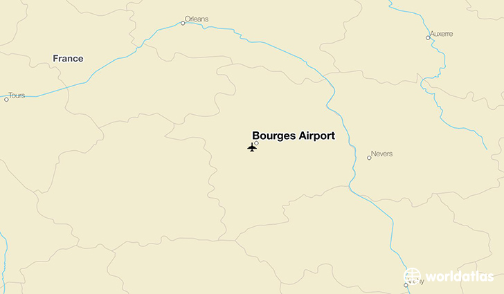 Bourges Airport location on a map