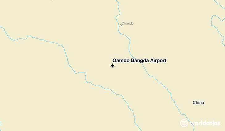 Qamdo Bangda Airport location on a map