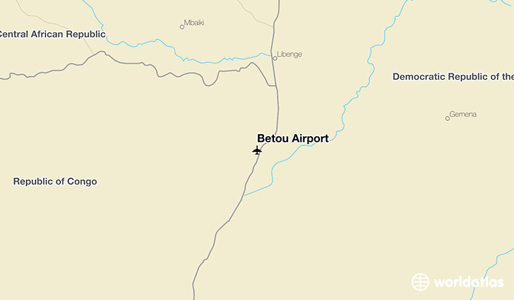 Betou Airport location on a map