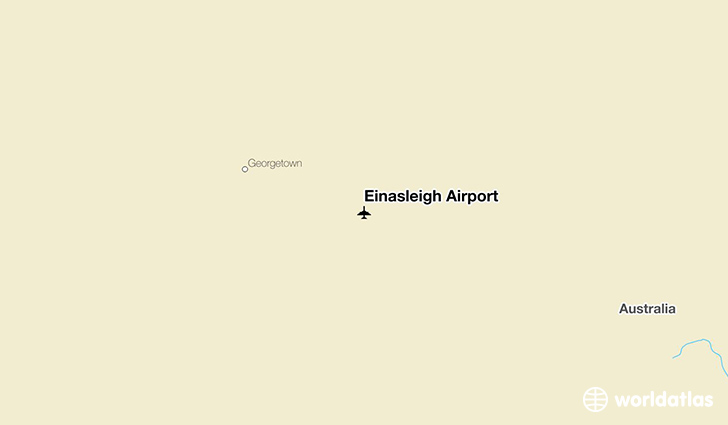 Einasleigh Airport location on a map