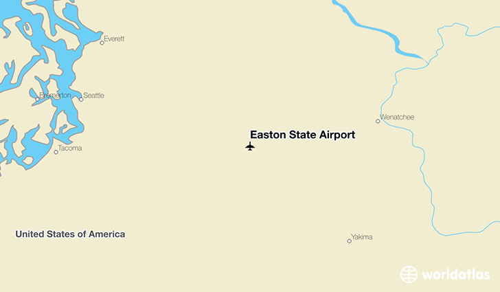 Easton State Airport location on a map