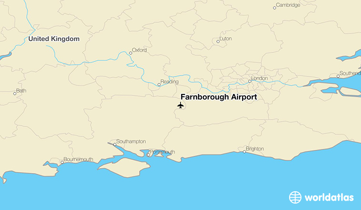 Farnborough Airport location on a map
