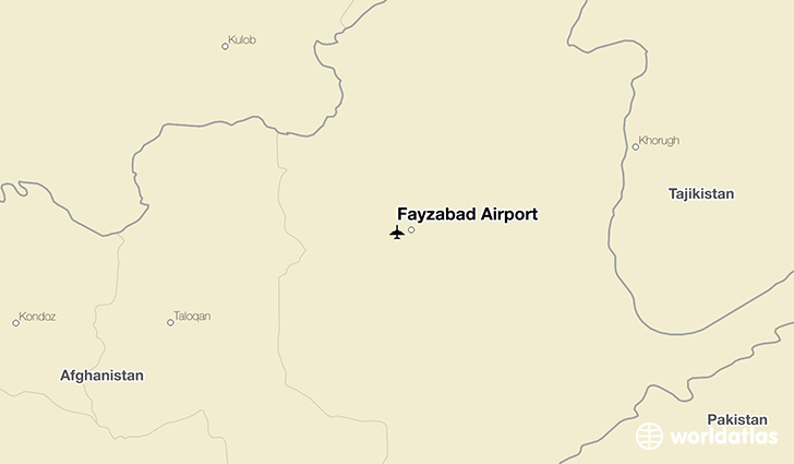 Fayzabad Airport location on a map
