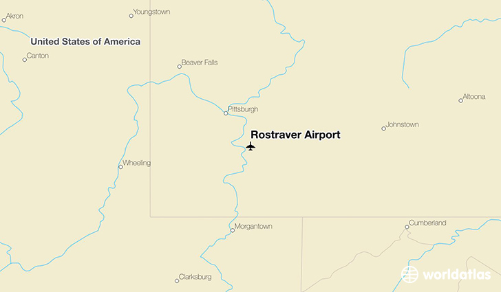 Rostraver Airport location on a map