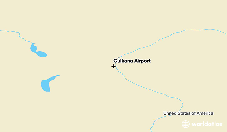Gulkana Airport location on a map