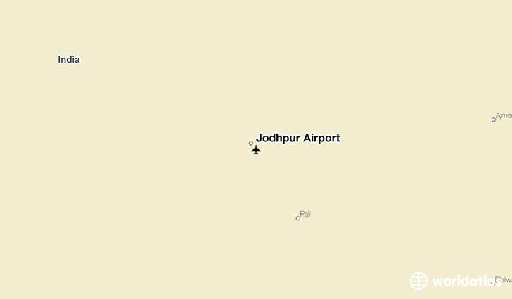 Jodhpur Airport location on a map