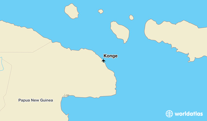 Konge location on a map