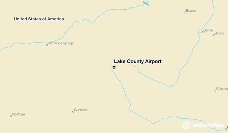Lake County Airport location on a map
