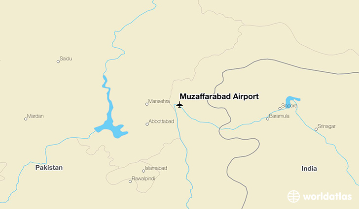 Muzaffarabad Airport location on a map