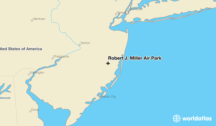 Robert J. Miller Air Park location on a map