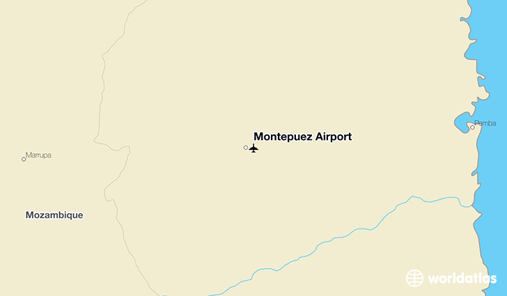 Montepuez Airport location on a map