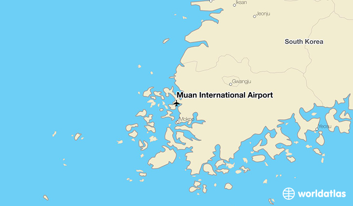 Muan International Airport location on a map