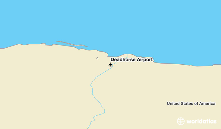 Deadhorse Airport location on a map