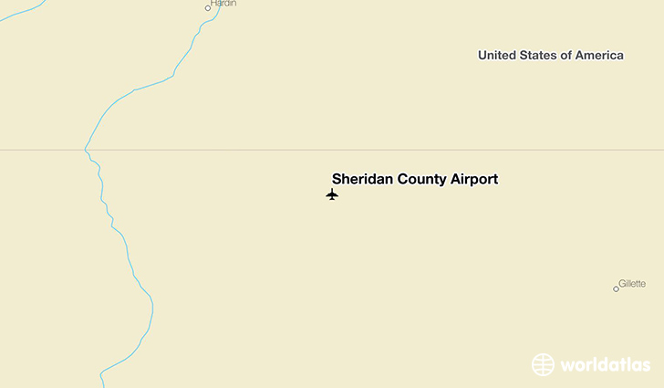 Sheridan County Airport location on a map