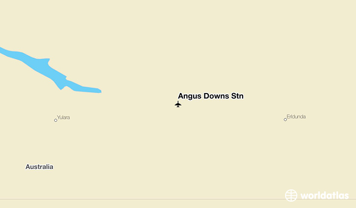 Angus Downs Stn location on a map