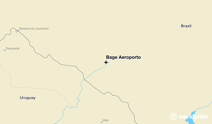 Bage Aeroporto location on a map