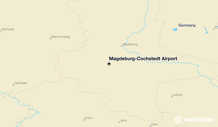 Magdeburg–Cochstedt Airport location on a map