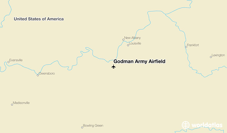 Godman Army Airfield location on a map