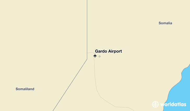 Gardo Airport location on a map