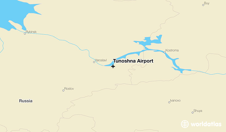Tunoshna Airport location on a map