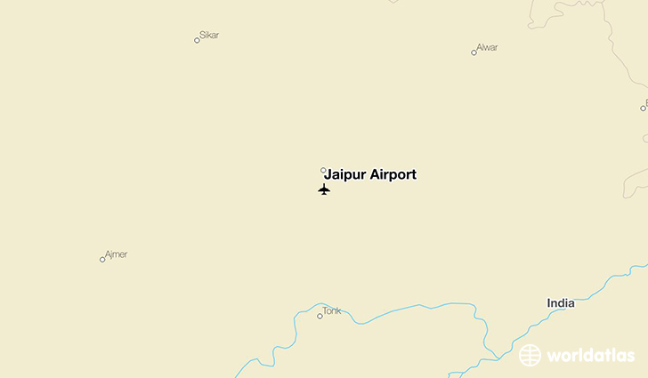 Jaipur Airport location on a map