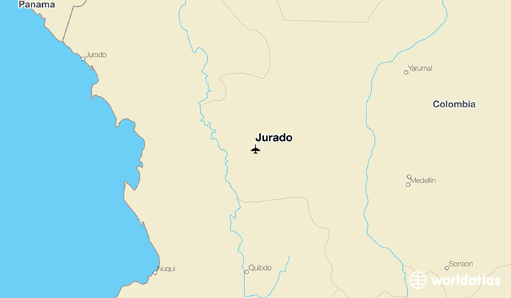 Jurado location on a map