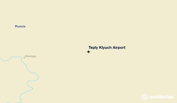 Teply Klyuch Airport location on a map