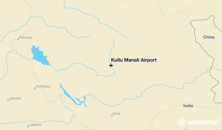 Manali India Map.Kullu Manali Airport Kuu Worldatlas