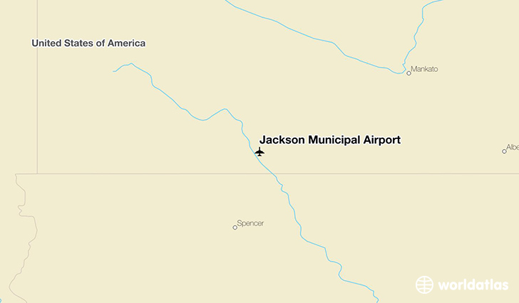 Jackson Municipal Airport location on a map